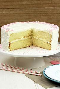 Vanilla Cake with Whipped Cream Cheese Frosting - Sweet ...