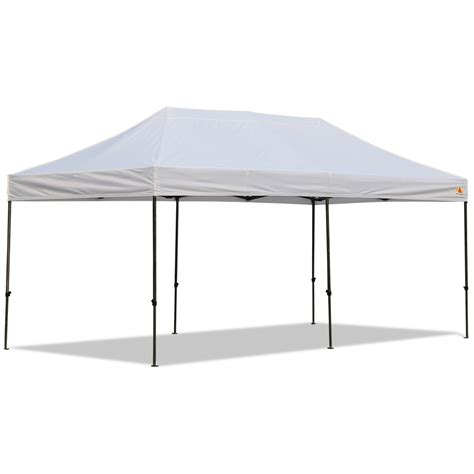 pop up canopy abccanopy 10x20 deluxe white pop up canopy with roller bag