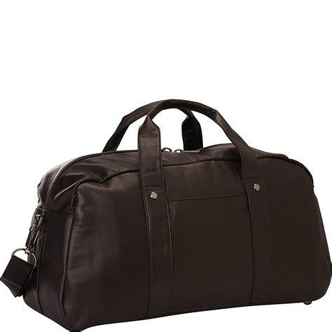 Kenneth Cole Genuine Leather Duffle Bag Travel Overnight Weekender Tote Bag Ebay