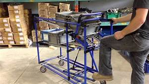 Flow Rack With Foot Pedal Return