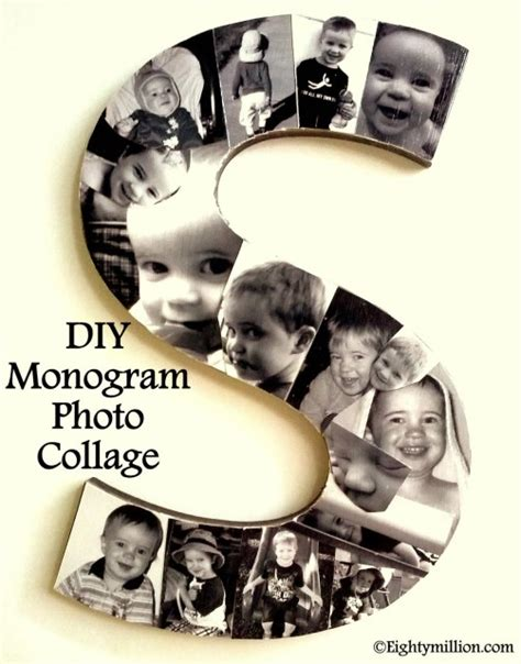 diy monogram photo collage eightymillion