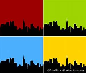 City skyline silhouette Vector   Free Download