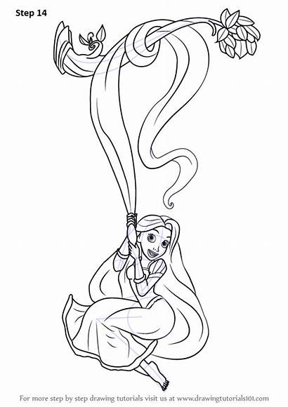 Rapunzel Tangled Drawing Draw Step Cartoon Necessary