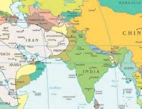 Central and South West Asia Physical Map