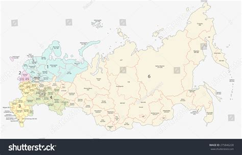 Moscow Russia Zip Code by Russian Postcodes Map Stock Vector 275846228