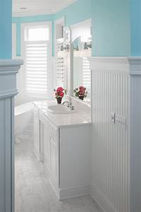 How does the beadboard standup in the bathroom for Bead board in bathroom