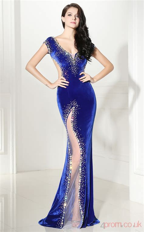 light blue tulle sequined velvet trumpetmermaid  neck