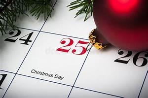 Close Up Of December 25th Calendar Stock Photo - Image ...