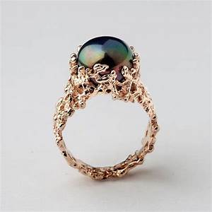 Black pearl engagement rings meaning engagement ring usa for Black wedding rings meaning