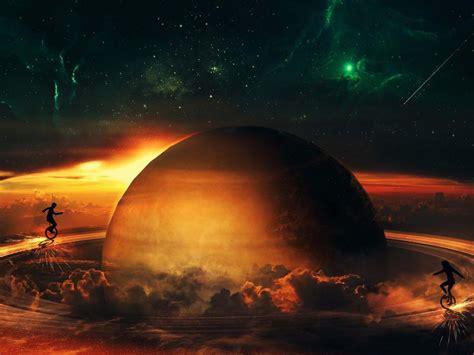 Saturn Rings Fantasy Art Digital Hd Widescreen Wallpaper