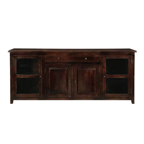 Large Buffet Cabinet by Alistar Solid Wood Glass Door Large Buffet Cabinet