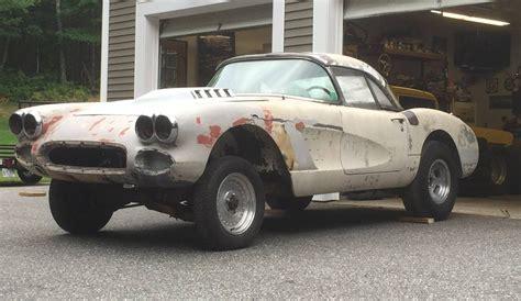 drag car  corvette