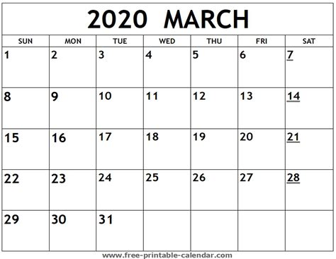printable march calendar printable calendarcom