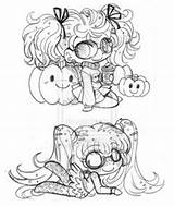 Coloring Yampuff Chibis Deviantart Sketch Sketches Licorice Pigtailed Micro Pages Lord Template Yam Bites Puff A4 sketch template
