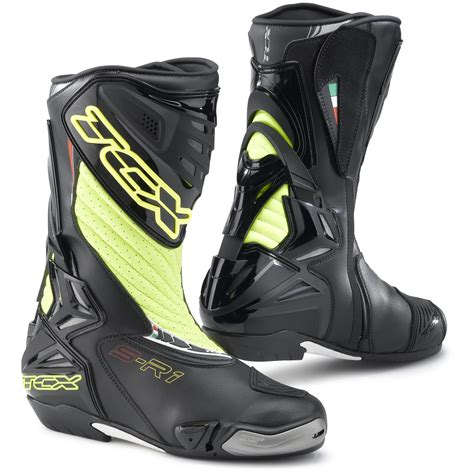moto racing boots tcx s r1 leather motorcycle motorbike ce approved sports