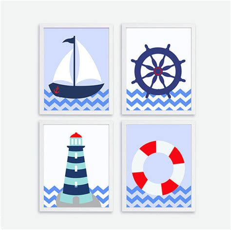 Sailboat Wall Decor Nursery by Printable Ships Wheel Sailboat From Artbaba On Etsy