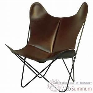 Aa new design de aa new design dans fauteuil butterfly en for Fauteuil design bois et cuir