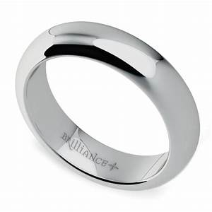 comfort fit men39s wedding ring in white gold 5mm With mens wedding rings white gold comfort fit