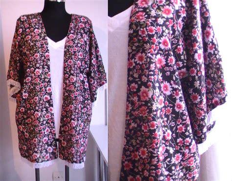 patron gratuit robe de chambre femme tuto couture kimono d 39 été avec franges patron gratuit