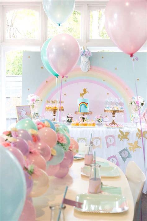 kara 39 s party ideas glamorous girl 1st birthday kara 39 s party ideas floral rainbow glam unicorn birthday