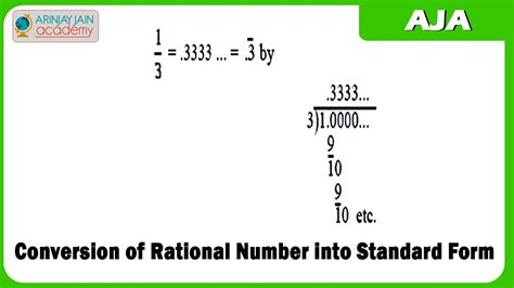 1019 conversion of rational number into standard form