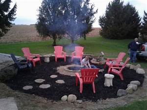 Took Down The Pool And Made A Huge Fire Pit Area  Added