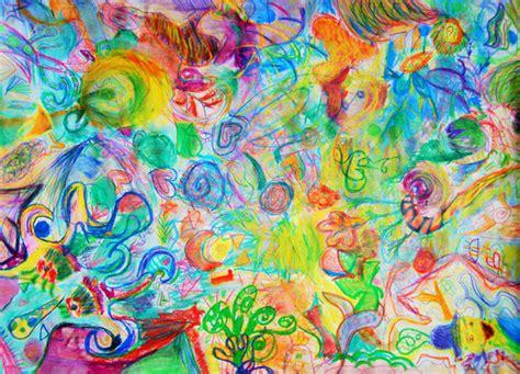 malen mit oelkreidepastellkreide und wasservermalbaren