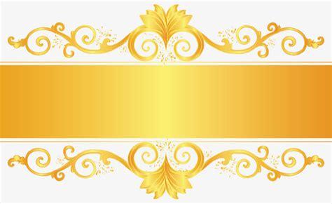 برواز ذهبي مزخرف فريم مربع النص العنوان Png والمتجهات