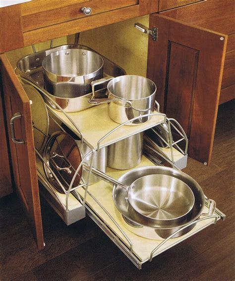 pots pans storage kitchen racks pan pot organizer organization solutions rack food pull cookware wood cooking drawers organized stylish ways