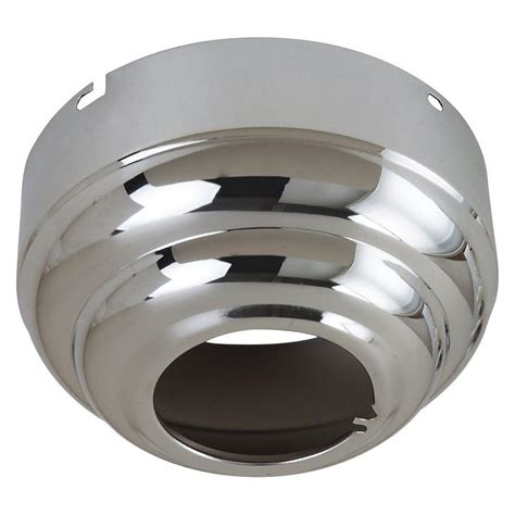 sloped ceiling adapter for lighting sea gull lighting ceiling fan canopies collection chrome