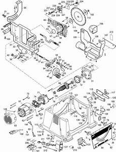 Dewalt Dw744 Portable Table Saw Parts  Type 5  Parts