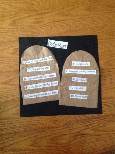 ten commandments craft bible crafts by let sunday 10 | 03cf2fad473521cce2a4c274b0c8e643