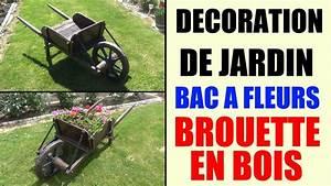 Bac En Bois Pour Jardin : bac fleurs brouette en bois id e d coration de jardin youtube ~ Melissatoandfro.com Idées de Décoration