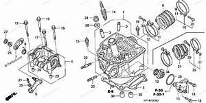 Honda Atv 2008 Oem Parts Diagram For Cylinder Head