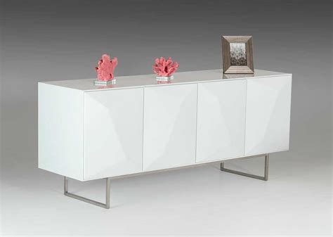 Contemporary Buffets And Sideboards by Modern White Glossy Buffet Vg108 Modern Buffets Stations