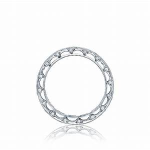 Tacori wedding bands reverse crescent diamond 097ctw for Wedding rings tacori