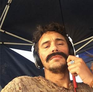 James Franco tries a mustache on for size. - Celebrity ...