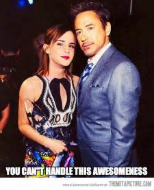 Emma Watson and Robert Downey Jr.