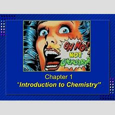Chemistry  Chp 1  Introduction To Chemistry Powerpoint