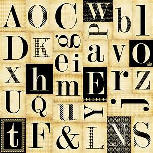 teresa collins notations collection 12 x 12 die cut With die cut paper letters
