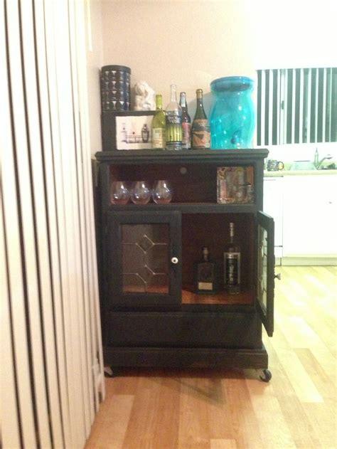 dresser turned  liquor cabinet    im