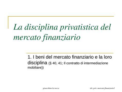 dispense diritto fallimentare disciplina privatistica mercato finanziario dispense
