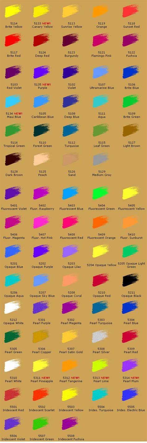createx airbrush paint color chart