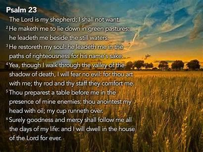 Psalm Psalms Desktop 23rd Wallpapers Lord Shepherd