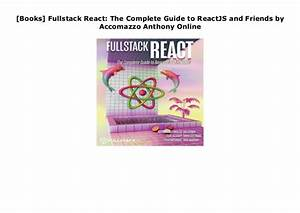 Books  Fullstack React  The Complete Guide To Reactjs And