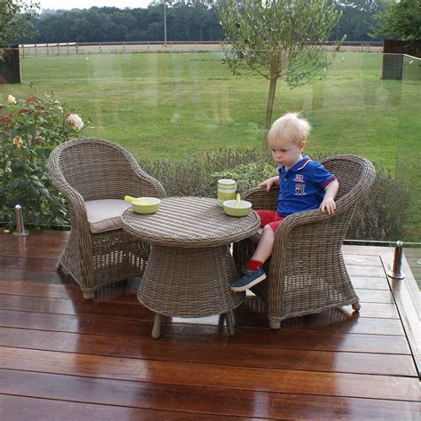 childrens wicker table and chairs maze rattan winchester childrens set next day delivery