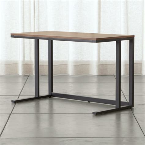 Pilsen Graphite Desk with Walnut Top   Reviews   Crate and