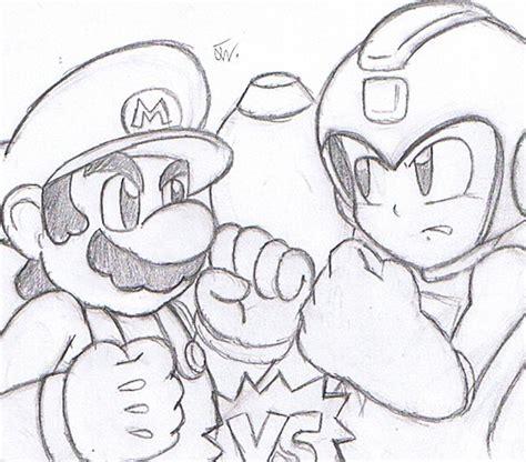 Mario Vs Mega Man By Shining Tatsu On Deviantart