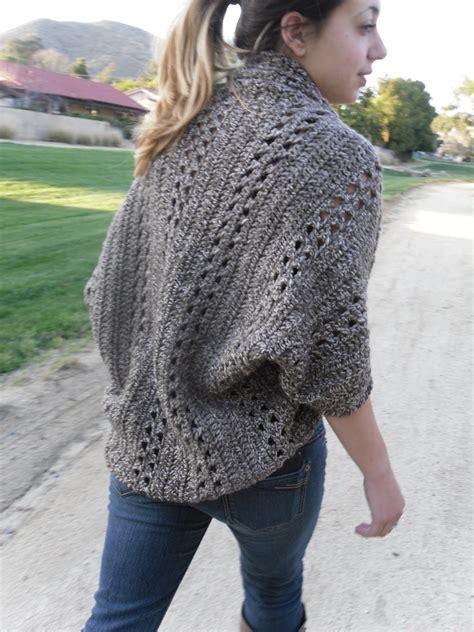 easy crochet sweater shrug cardigan shawl w sleeves easy beginner crochet pdf