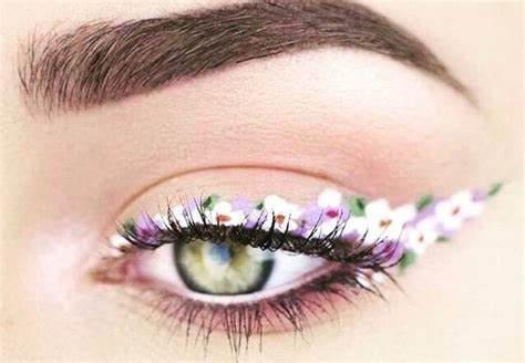 floral eyeliner   newest makeup trend youll  obsessed